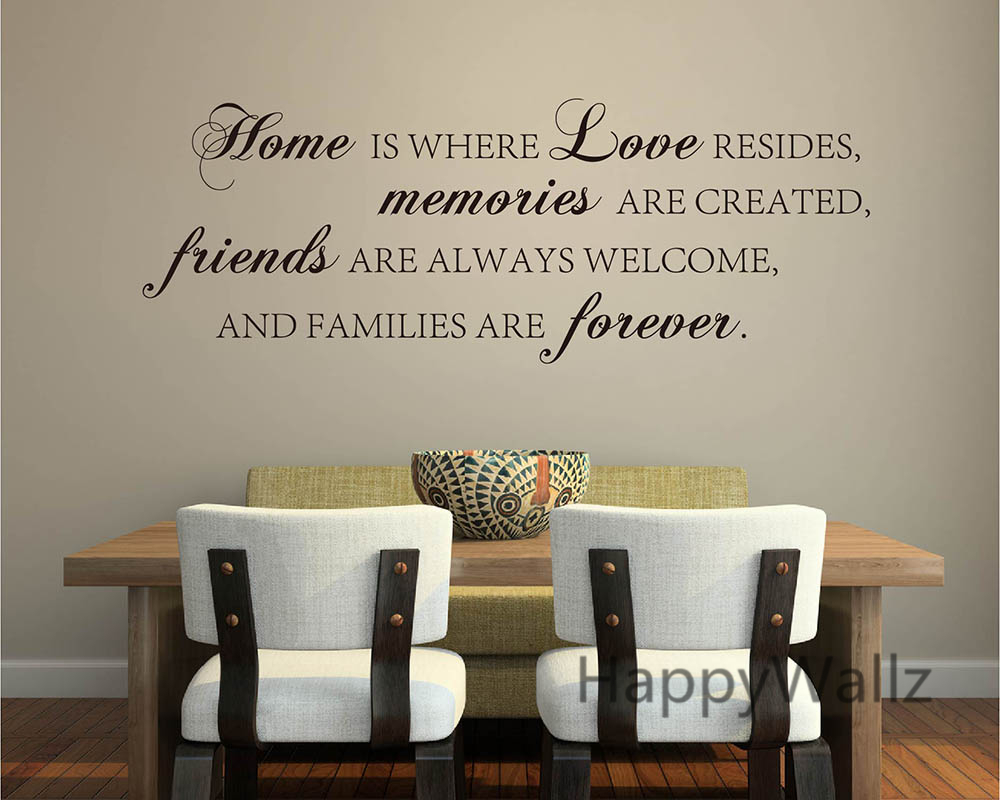 Home Love Memories Friends Forever Family Quote Wall Stickers Decorative DIY Family Home Lettering Quote Wall Art Decals Q136 in Wall Stickers from Home Garden