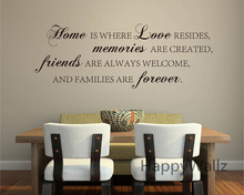 Home Love Memories Friends Forever Family Quote Wall Stickers Decorative DIY Lettering Art Decals Q136