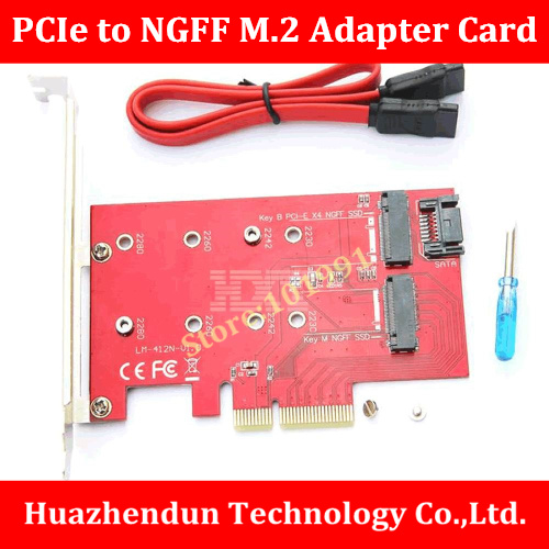 High Quality 100% NEW BRAND  PCI-E X4 to NGFF(M.2)SSD Adapter Card with Cable and Screwdriver   M.2 Expansion Card original high quality nvidia quadro fx370 pci e with dms 59 cable fx 370 3d griaphic card 1year warranty