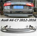 JIOYNG 4 Outlet PP Rear Bumper Diffuser with Exhaust Tips For Audi A6 C7 2012 2013 2014 2015 2016