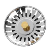 ステンレス鋼キッチンシンクストレーナープラグシンク浴室廃棄ストレーナー|食品廃棄物ディスポーザーパーツ|   -