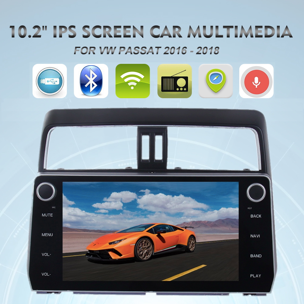 "10.2"" 2 din Car Radio GPS for Toyota Prado Stereo 2018 Android 8.0 Multimedia Audio Navigation Steering Wheel Control Octa Core"