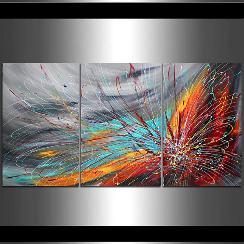 Hand Painted Modern Abstract Oil Painting on Canvas Grey Red Wall Art Living Room Decor Canvas Painting Home decorations-in Painting u0026 Calligraphy from Home ... & Hand Painted Modern Abstract Oil Painting on Canvas Grey Red Wall ...