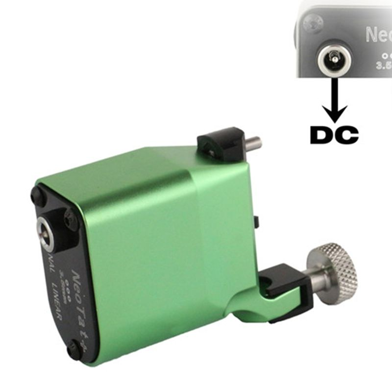 New Tattoo Machine NeoTat Rotary Tattoo Machine Best Quality Green Color Permanent Tattoo Gun For Tattoo Artist Free Shipping