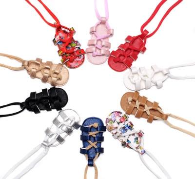 Baby Girl New Fashion Newborn Infant Infant Girls PU Leather Bandage Sandals Summer Pram Flat Shoes Bebes Sandals 8 Colors