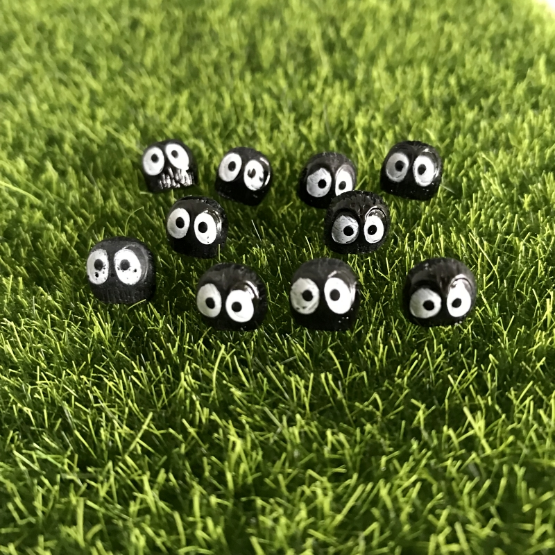 10Pcs/set Cute Dust Elf Resin Craft Totoro Figurine Home Decor Miniature Fairy Garden Micro Landscaping Decor
