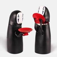 Japanese anime Original kawaii spirited away faceless man action figure model funny electric big mouth piggy bank