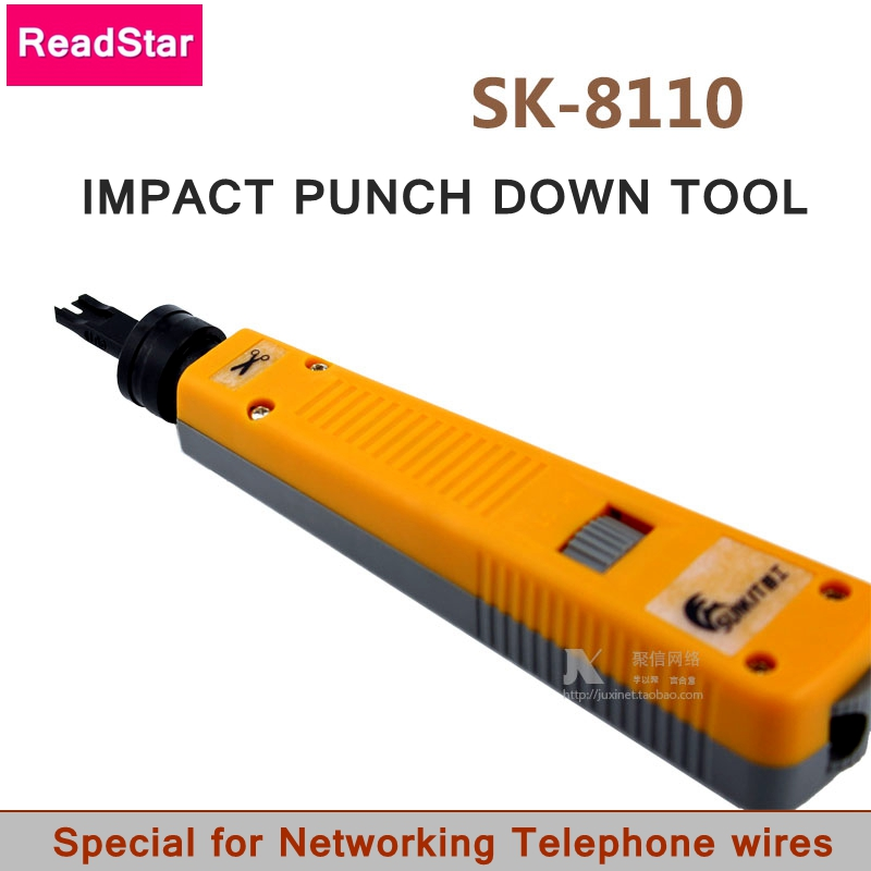[Readstar] sunkit sk-rj45 rj11インパクトパンチダウンツールネットワーク電話モジュールワイヤーツールカッターワイヤートラッカー