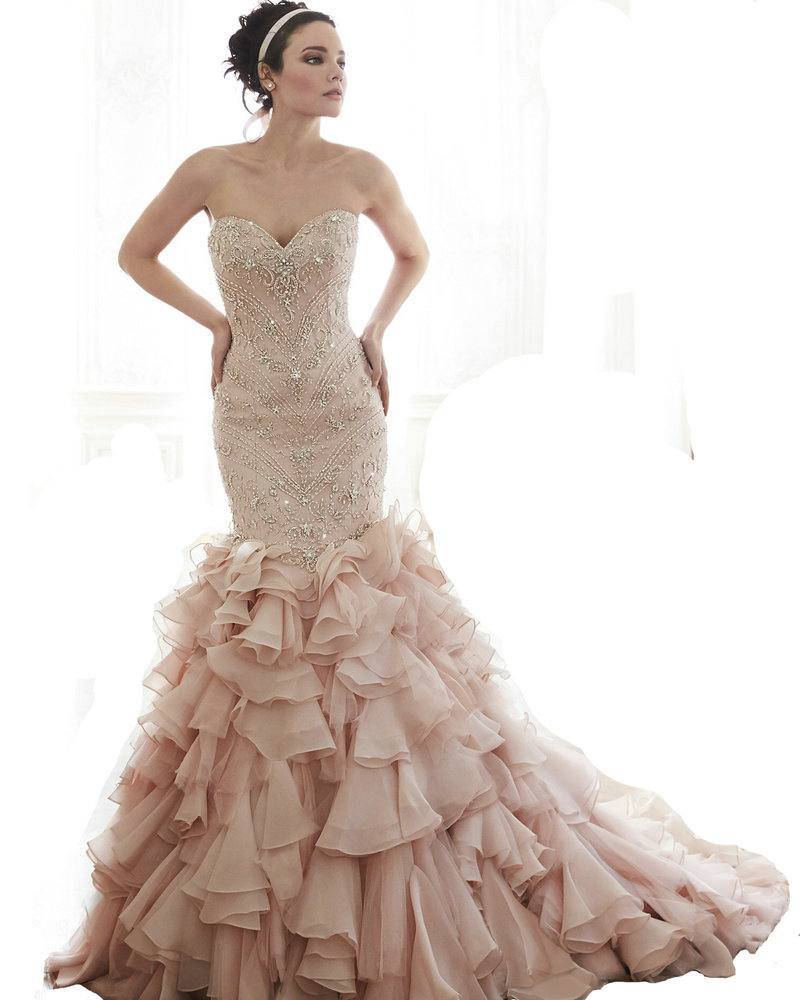embroidered bridal gowns most popular design ruffle organza bridal gowns designs 2016 crystal beaded wedding dress