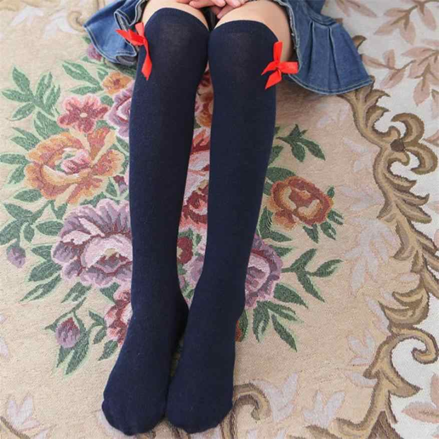 Dziewczynek nogi wysokiej za baryłkę bawełniane skarpetki w łuki Cute mały podkolanówki Kid odzież Unisex maluch Boot skarpety cartoon