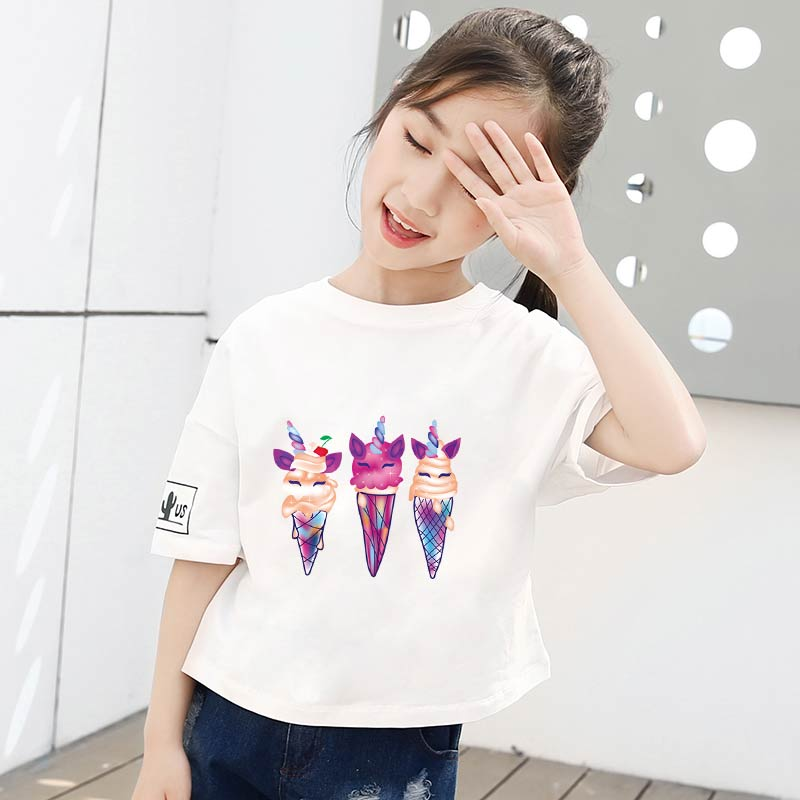 Pulaqi Ice Cream Iron On Transfers For Clothing Cartoon Patches Heat Transfers For Clothes Stripe Thermo Stickers On Clothes DIY in Patches from Home Garden