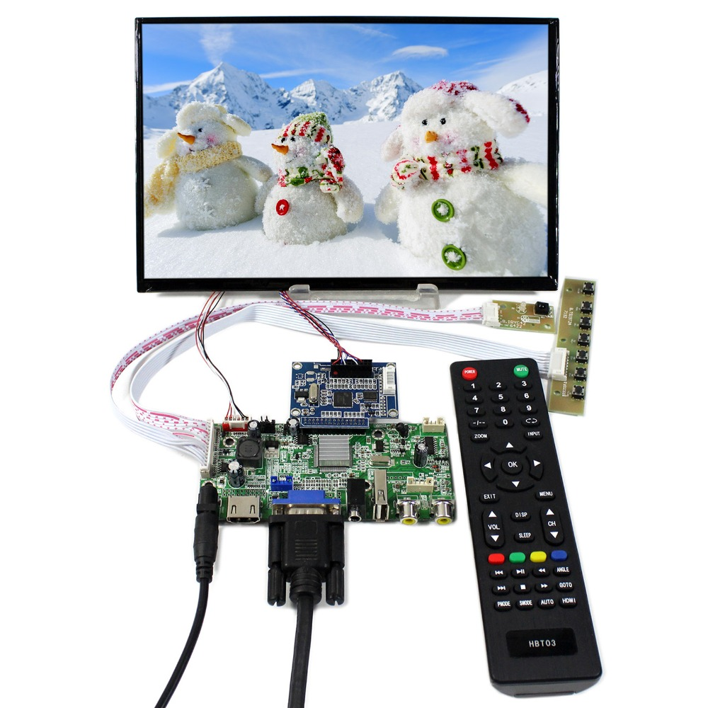 HDMI+VGA+AV+Audio+USB LCD Controller Board With 10.1inch 1920x1200 B101UAN01.A LCD Screen цена