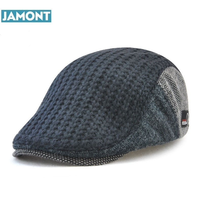 JAMONT Knitted-Caps Berets Hats Peaked-Hat Boinas Retro Autumn Winter Men's Cotton Casual
