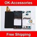 Preto ou branco de alta qualidade para sony xperia zr m36h c5502 c5503 lcd display + touch screen digitador + quadro 1 pc/lote