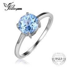 Пасьянс топаз jewelrypalace голубой камень натуральный подлинная стерлингового серебра изделий круглый