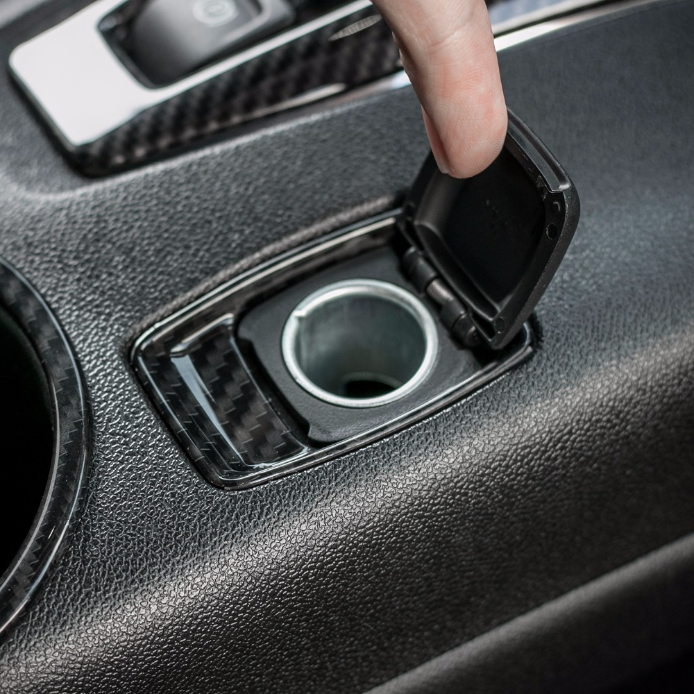 MOPAI ABS Carbon Fiber Car Cigarette Lighter Decoration Cover Interior Stickers For Chevrolet Camaro 2017 Up Car Styling