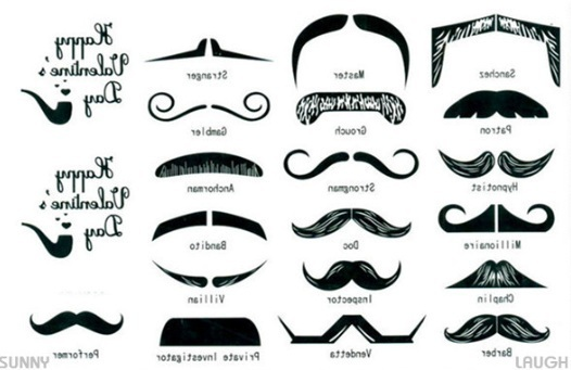 Hitting temporary tattoo for women and men finger for Mustache temporary tattoos
