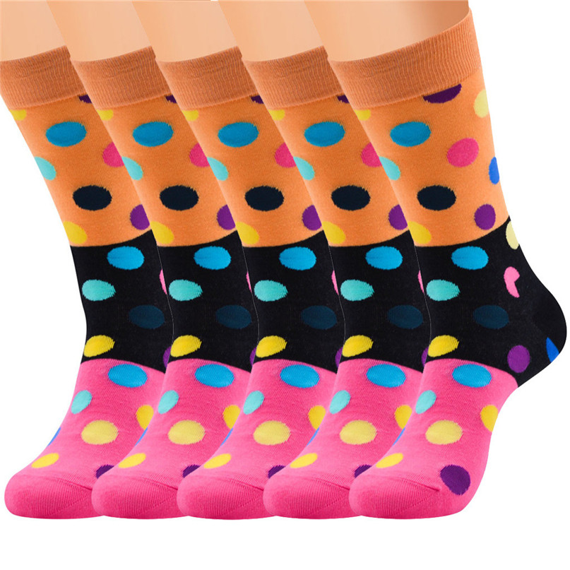 Men Accessories 5 Pairs Men`s Colorful Funny Novelty Crazy Combed Cotton Casual Socks Sport Foot Sock 30LY18 (17)