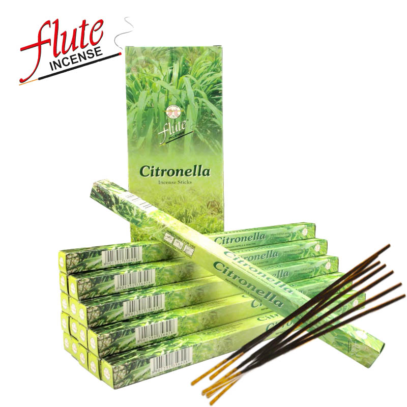 FLUTE 200 Sticks Pack Citronella Fragrance Herbal Cored Stick Incense Hand Rolled From Indian Burning in Office For Meditation in Incense Incense Burners from Home Garden