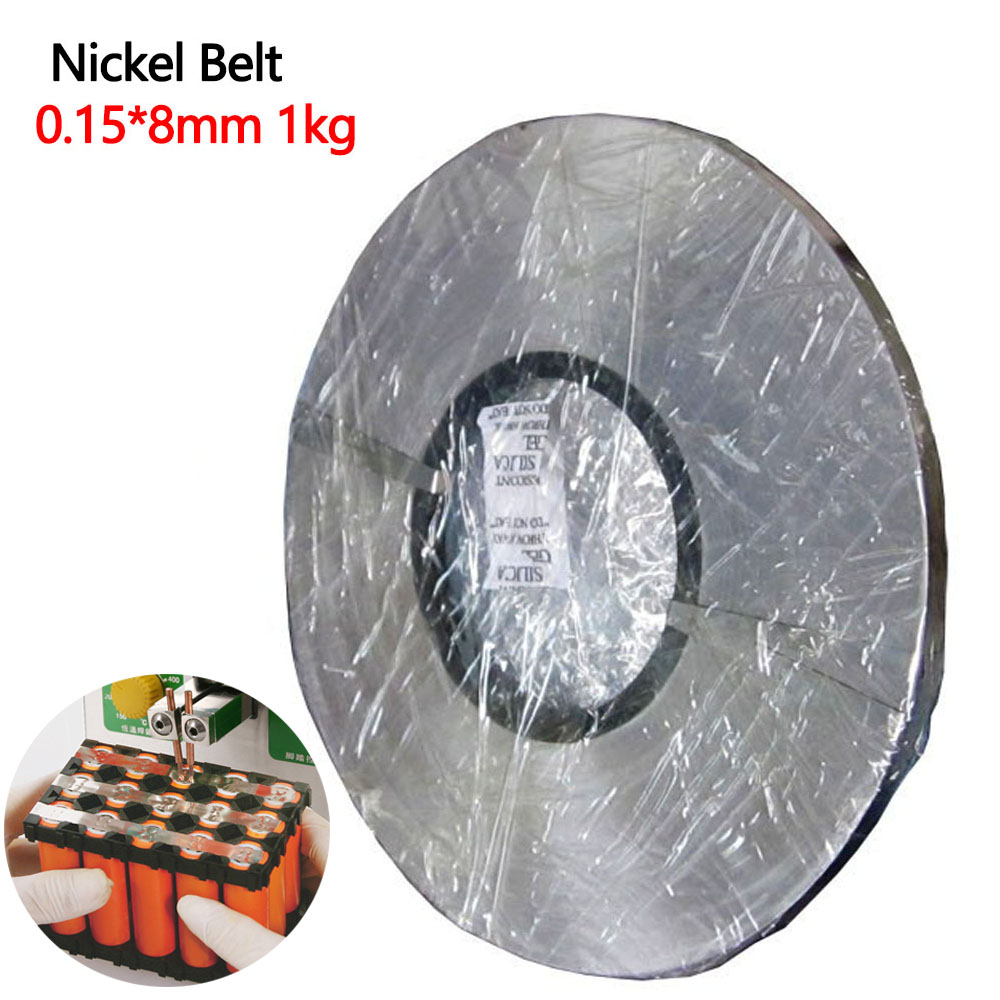 Bande de nickel, 1 kg, 0.15x8mm, bande de nickel, 18650 batterie, bande en acier Nickel, feuille de connexion de batterie au Lithium