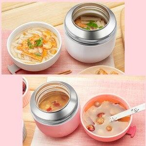 Image 5 - Caixa de Almoço quente kid Babys Talheres Sopa Panela Panela de Cozido Isolamento Chaleira Portátil Tigela de Aço Inoxidável Recipiente de Alimento do Vácuo