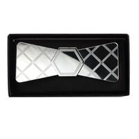 Spring Wedding Season Glossy Silver Mirror Acrylic Fashion Diamond Plaid Bow Tie Butterfly Tie Party Fashion Neckwear Accessory