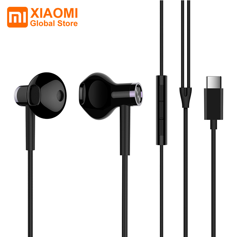 Xiaomi DualUnit Half In ear Earbud USB Type C Interface Dynamic Ceramic Horn Comfortable MEMS Microphone Remote Control Earphone