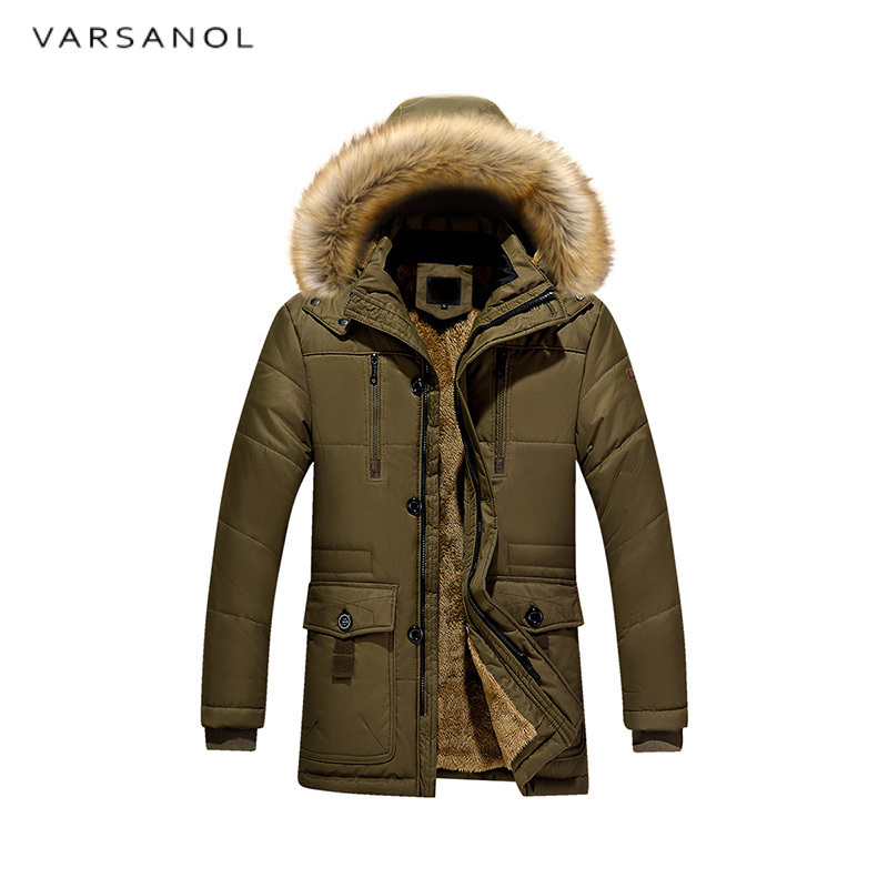 Varsanol New Arrival Winter Jackets Men Warm Cotton Parka Coat Casual Hooded Jacket Zipper Overcoat Thick Long Clothing 2017 Hot 2017 new fashion winter jacket men long thick warm cotton padded jackets coat parka overcoat casual outwear jacket plus size 6xl