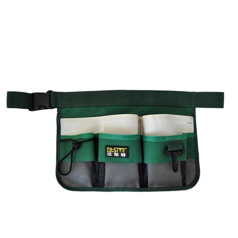 Multi-Pocket Tools Belt Waist Bag Gardening Tool Bucket Organizer Pouch for Yard