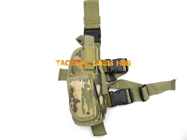 Adjustable Military Gear Tactical Nylon Drop Leg Holster, Pistol Holster,BK,Camo,Grn+Free shipping(SKU12050127)