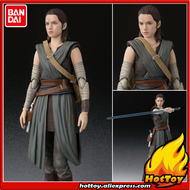 "100% Original BANDAI Tamashii Nations S.H.Figuarts (SHF) Action Figure - Rey from ""SW: The Last Jedi"""