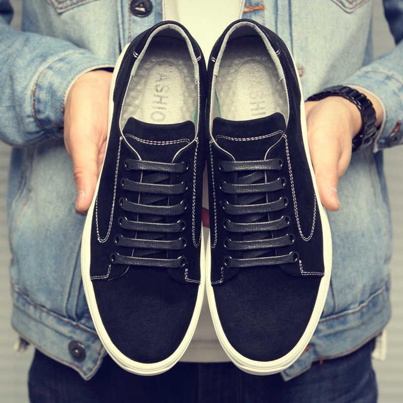DXKZMCM ผู้ชายสบายๆรองเท้าลูกไม้ Lace Up Gentlemans รองเท้าสบายรองเท้าผ้าใบเดินรองเท้า