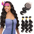 Burmese Virgin Hair With Closure 4 Bundles Virgin Human Hair With Closure Rosa Hair Products Burmese Body Wave With Closure