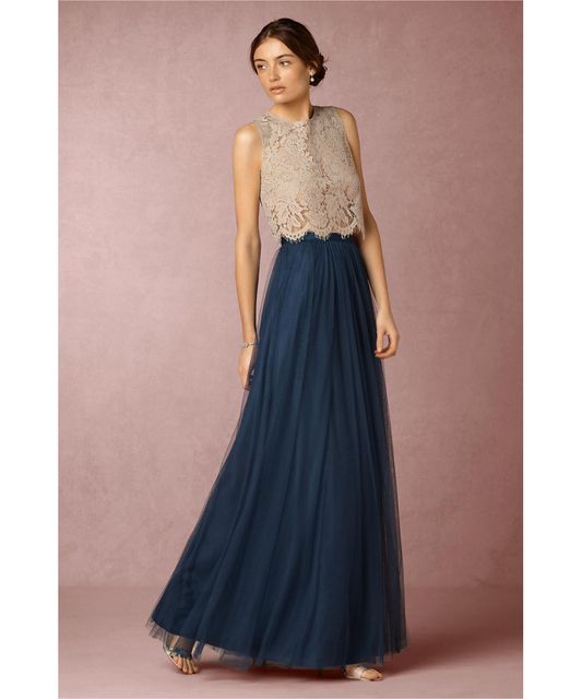 Lace Tulle Bridesmaid Dresses with Bottoms
