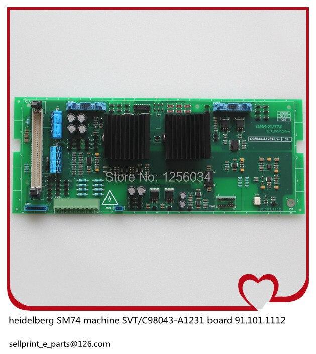2 pieces heidelberg MO machines power board SVT 91.101.1112 C98043-A1231 91.101.1112