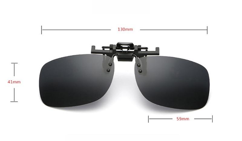 Polarized Clip On Flip Up Sunglasses Shades Eyewear Unisex for Myopia Glasses