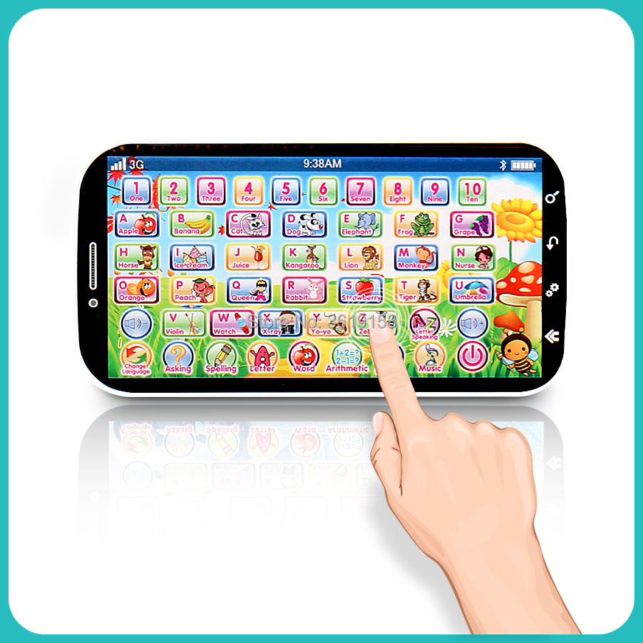 English Language Learning Machine Multifunction Toy Phone,ABC Letter Word Number Musical Yphone For Kid Educational Learning Toy