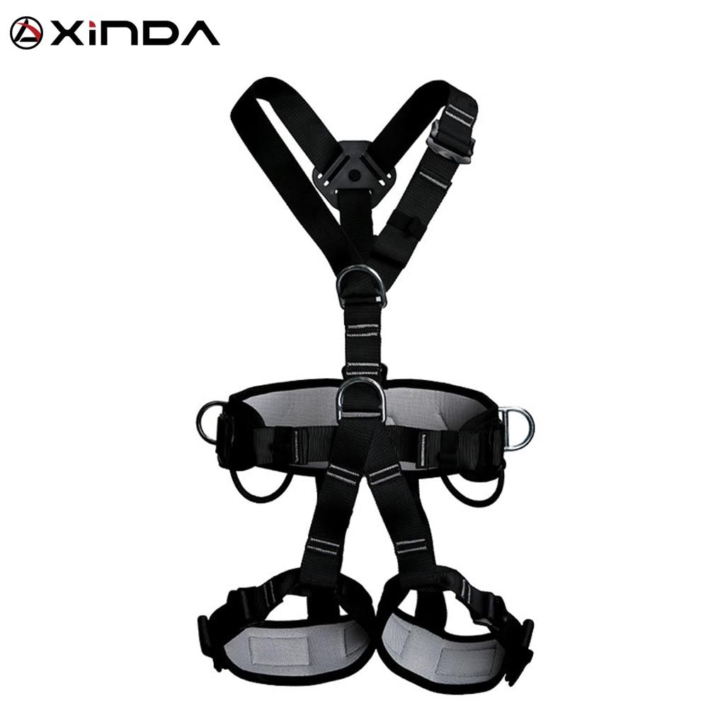 XINDA arnés profesional de calidad superior de escalada de roca de alta altitud de protección de cuerpo completo cinturón de seguridad Anti caída equipo de protección