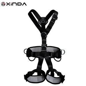 Image 1 - XINDA 최고 품질의 전문 하네스 암벽 등반 높은 고도 보호 전신 안전 벨트 안티 가을 보호 장비