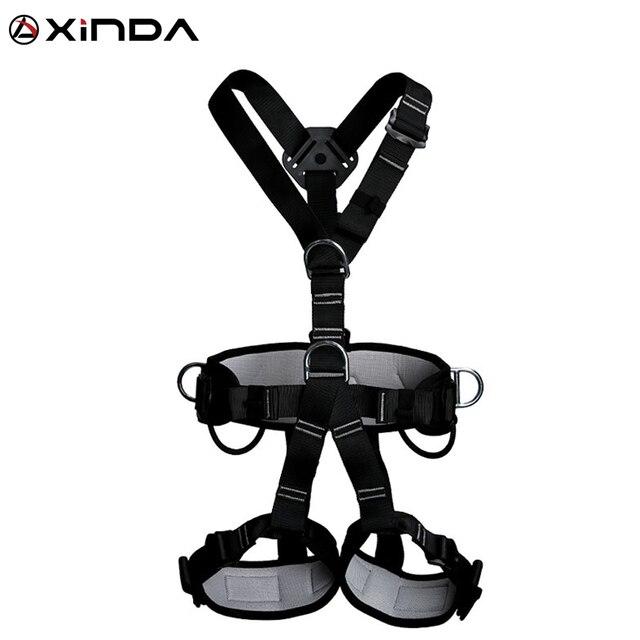 XINDA 최고 품질의 전문 하네스 암벽 등반 높은 고도 보호 전신 안전 벨트 안티 가을 보호 장비