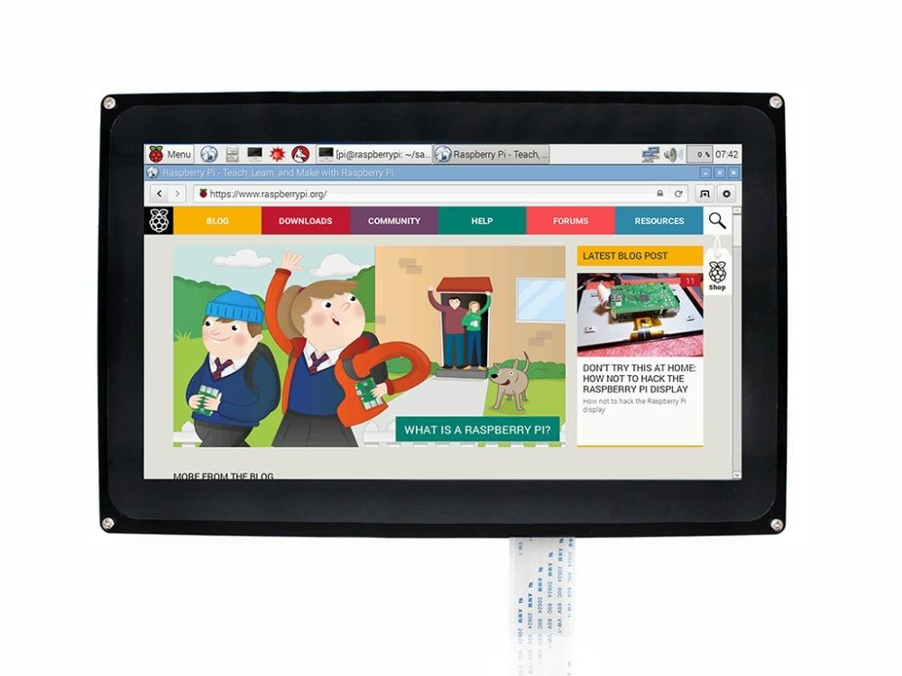 Waveshare 10.1 pouces écran tactile capacitif LCD 1024x600 pour Raspberry Pi Jetson Nano HDMI affichage avec étui en acrylique pour le royaume-uni