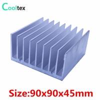 High Power 90x90x45mm Radiator Aluminum Heatsink Cooler For LED Electronic Computer Heat Dissipation