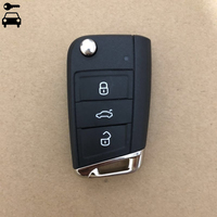 Car Flip Folding Remote Key Fob 434MHz with ID48 Chip for VW Skoda Octavia A7 MQB Golf VII Golf7 Golf MK7 2017 Not Smart Key