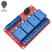 12V 4 Channel 4 Road Relay Module with Optocoupler Isolation Supports High and Low Trigger WAVGAT
