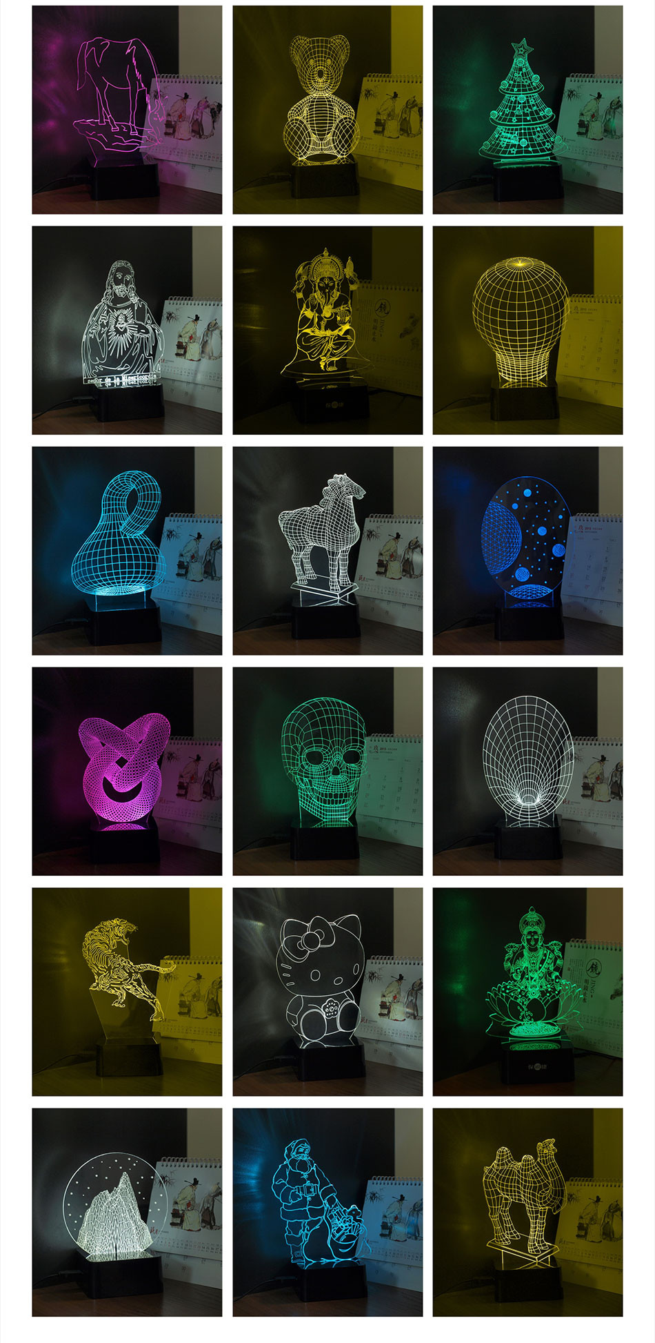 CNHIDEE USB Novelty 3d Lampara Night Lights Star Wars R2D2 Robort Led Lampara as Children Bedroom Luz Nocturna Table Reading Lamp (8)