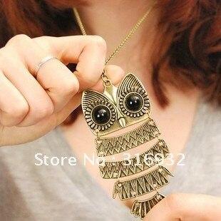 Hot wholesale! Owl necklace,vintage necklace fashion accessary