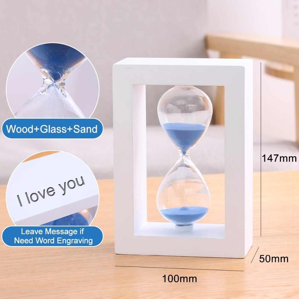 Reloj cronómetro de madera reloj de arena 30 minutos reloj de arena cuenta regresiva decoración del hogar regalos de boda para los invitados SL-FK