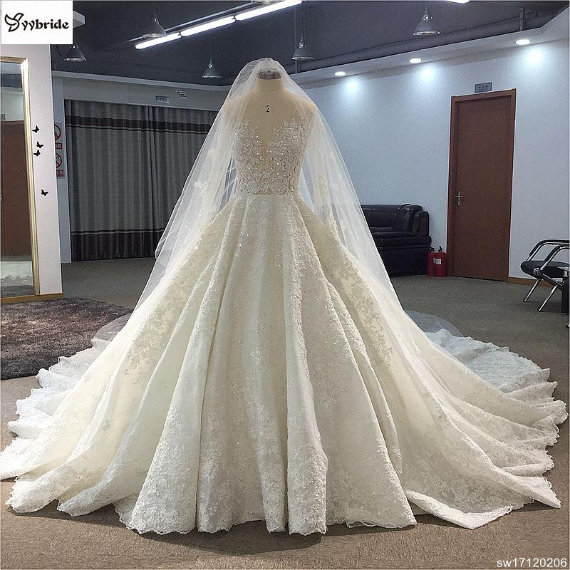 Royal Wedding Ball Gown: Surmount Custom Made Royal Train Wedding Dresses 2018 Ball