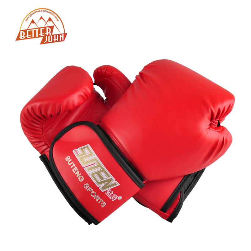 Boxing Gloves: SUTEN brand PU leather sport training equipment Boxing Gloves Kick boxing MMA Training Fighting Sandbag Gloves Sanda mittens