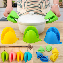 Silicone Insulated Gloves Kitchen Hot Pot Holder Microwave Oven Plate Clip 1 PCS Thick Anti-scalding Kichen Tool